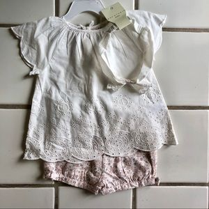 Baby Girl Toddler Soft Floral Outfit